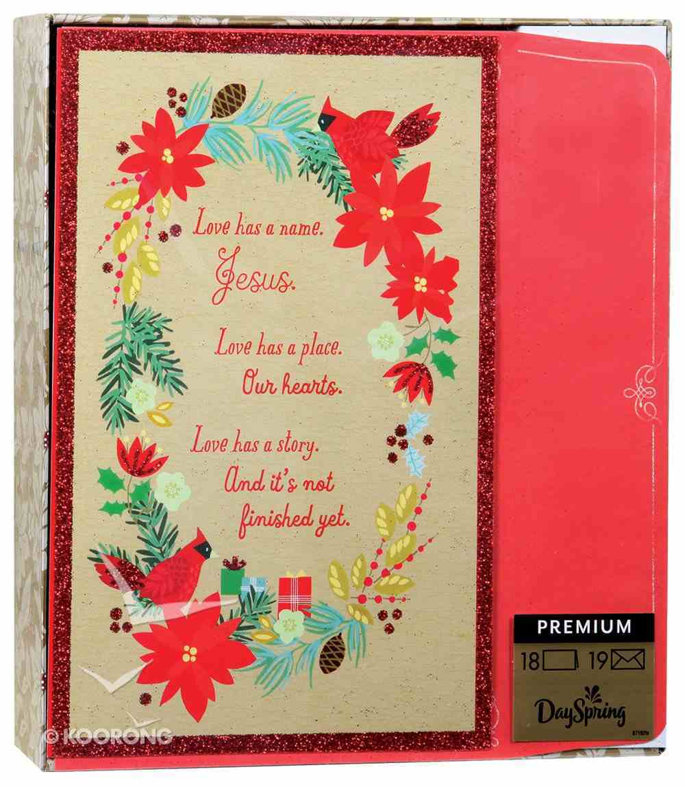 Christmas Premium Boxed Cards: Wreath (1 Corinthians 2:9) Box