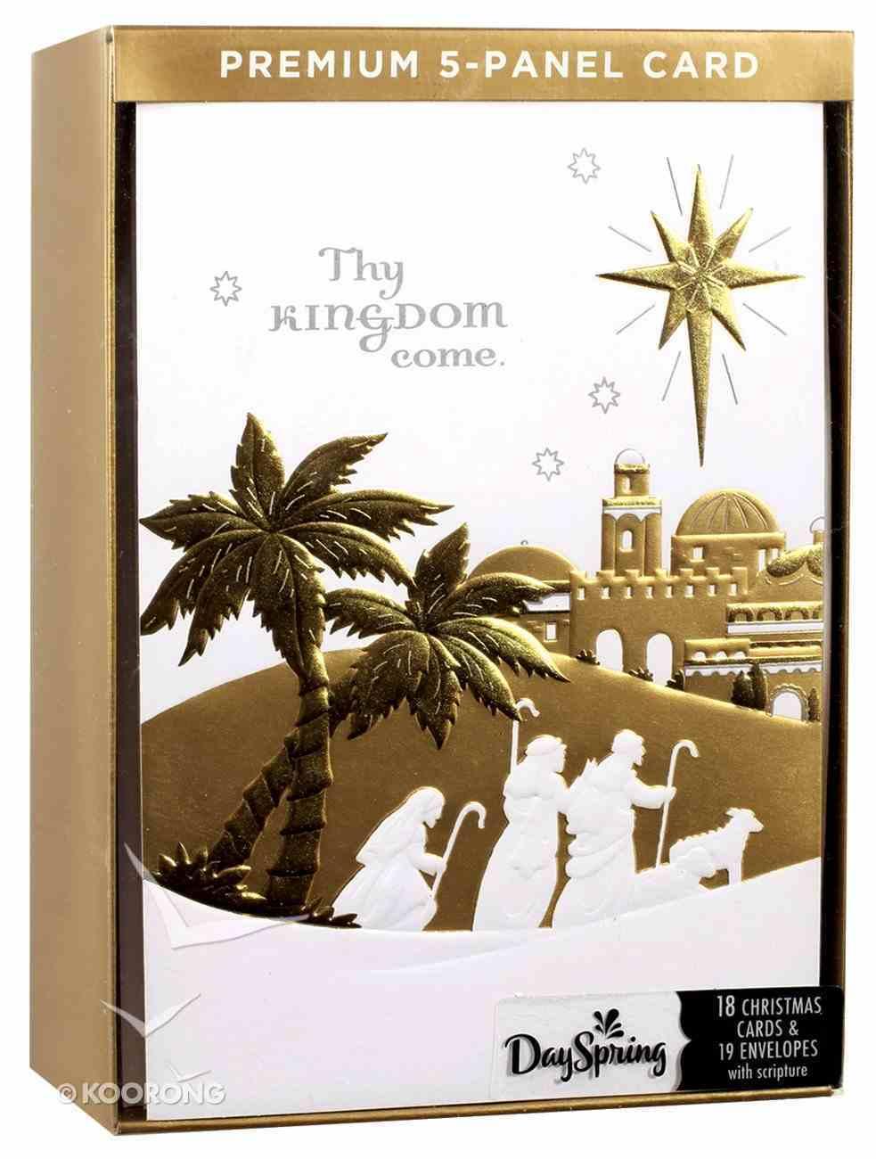 Christmas Boxed Cards: Five Panel Card Thy Kingdom Come (Matthew 6:10 Kjv) Box