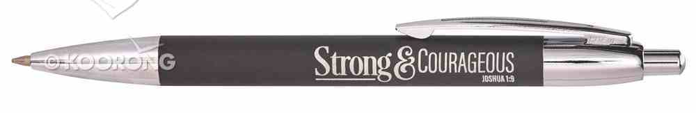 Classic Pen: Strong & Courageous, Black, (Joshua 1:9) Stationery