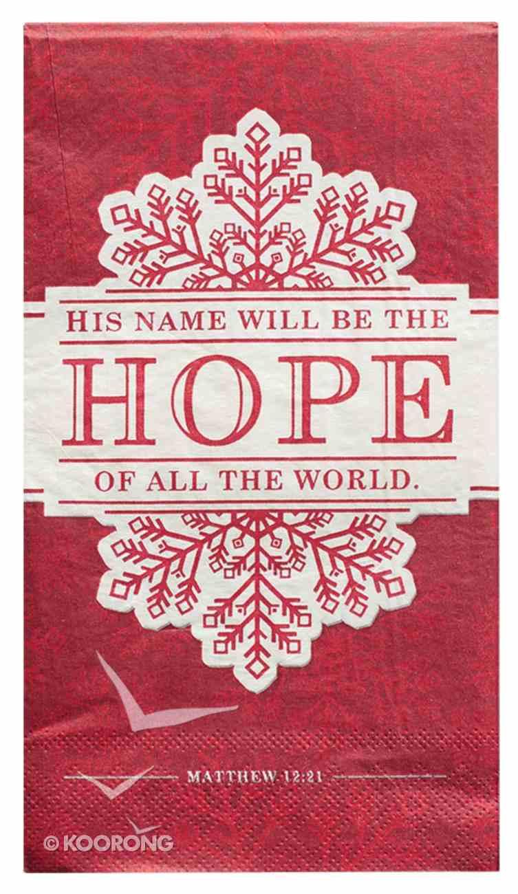 Christmas Large 6-Fold Paper Napkins: Hope (Red/Grey) (20 Pk) Homeware