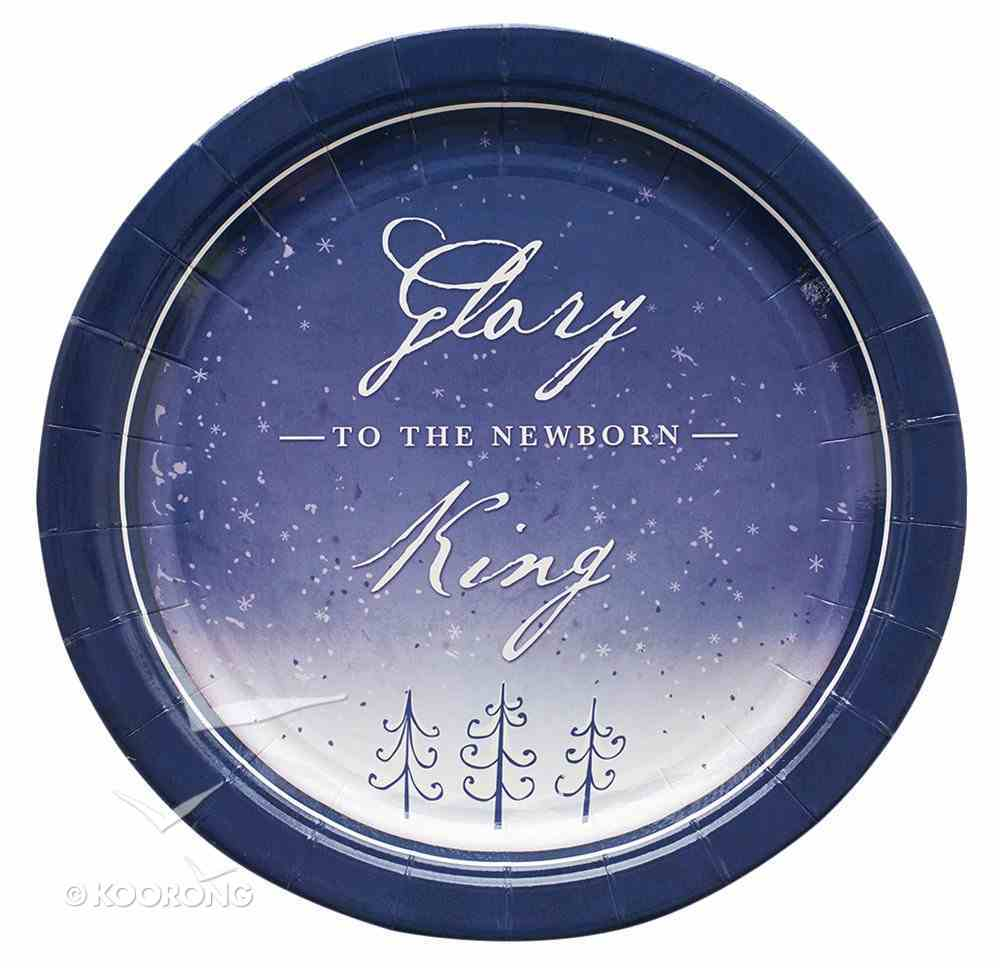Christmas Paper Plates: Glory to the Newborn King (Pack Of 8) Homeware