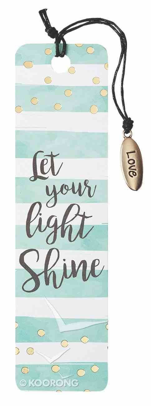 Bookmark With Tassel and Charm: Let Your Light Shine (Sparkle Range) Stationery
