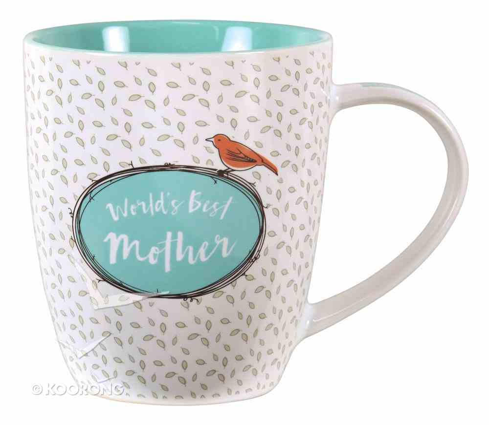 Ceramic Mug: World's Best Mother (Turquoise/white) Homeware