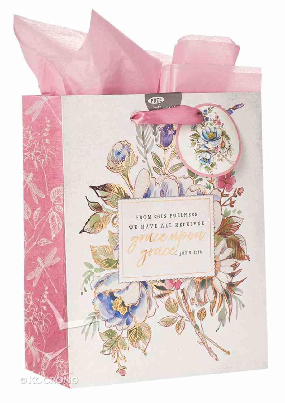 Gift Bag Medium: Grace Upon Grace, Floral Stationery