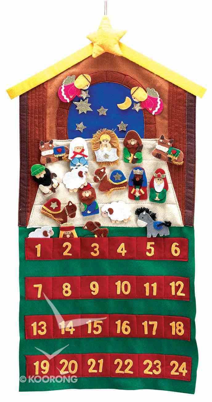 Advent Calendar Felt Fabric: 24 Pieces With Velcro Backs Calendar