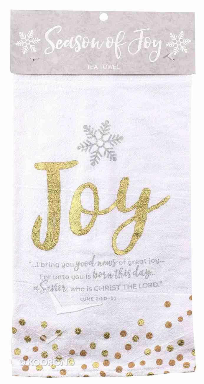 Christmas Cloth Towel Season of Joy: Joy Gold and White (Luke 2:11) Homeware