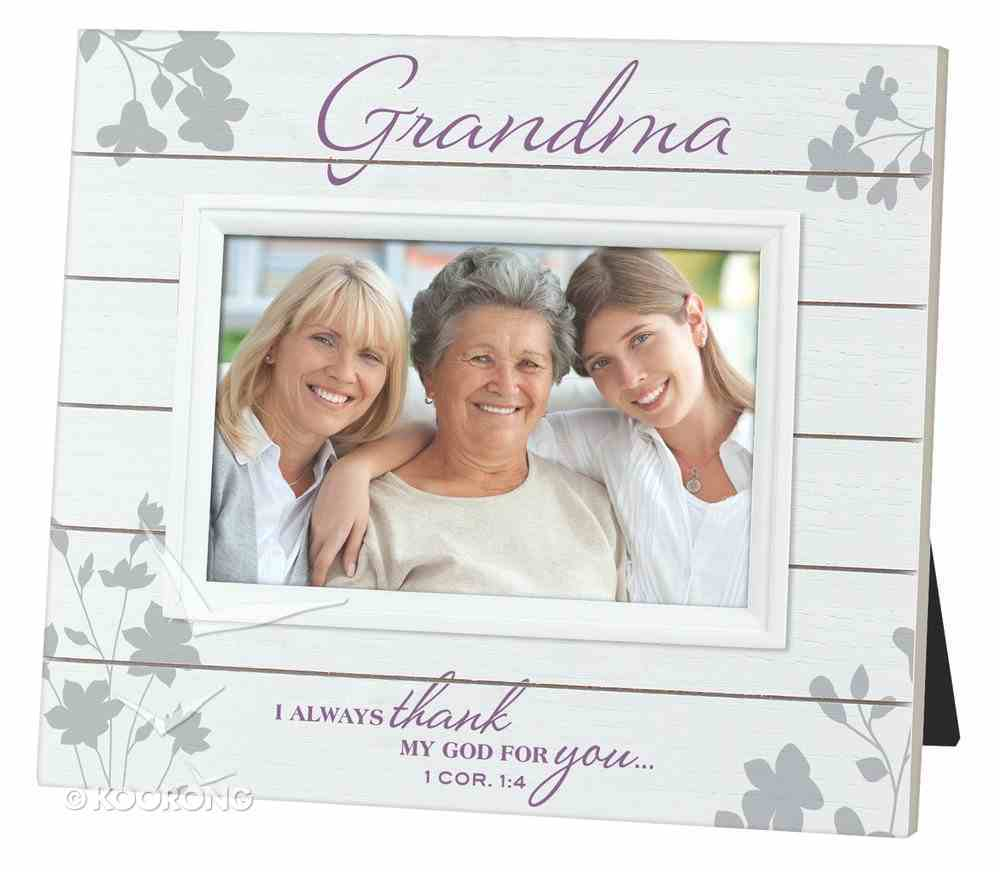Mdf Slat Wood Frame: Grandma (1 Cor 1:4) Homeware