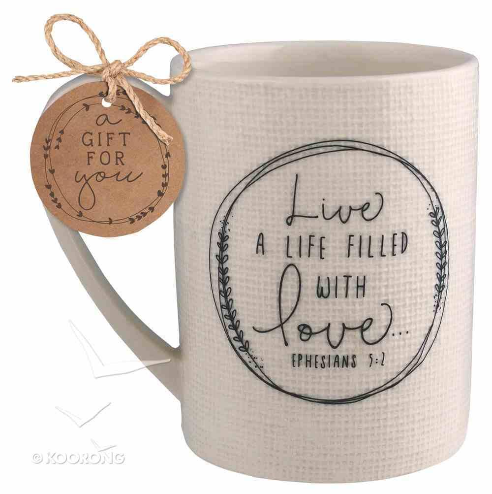 Ceramic Mug Hand Drawn Doodles: Love (Ephesians 5:2) Homeware
