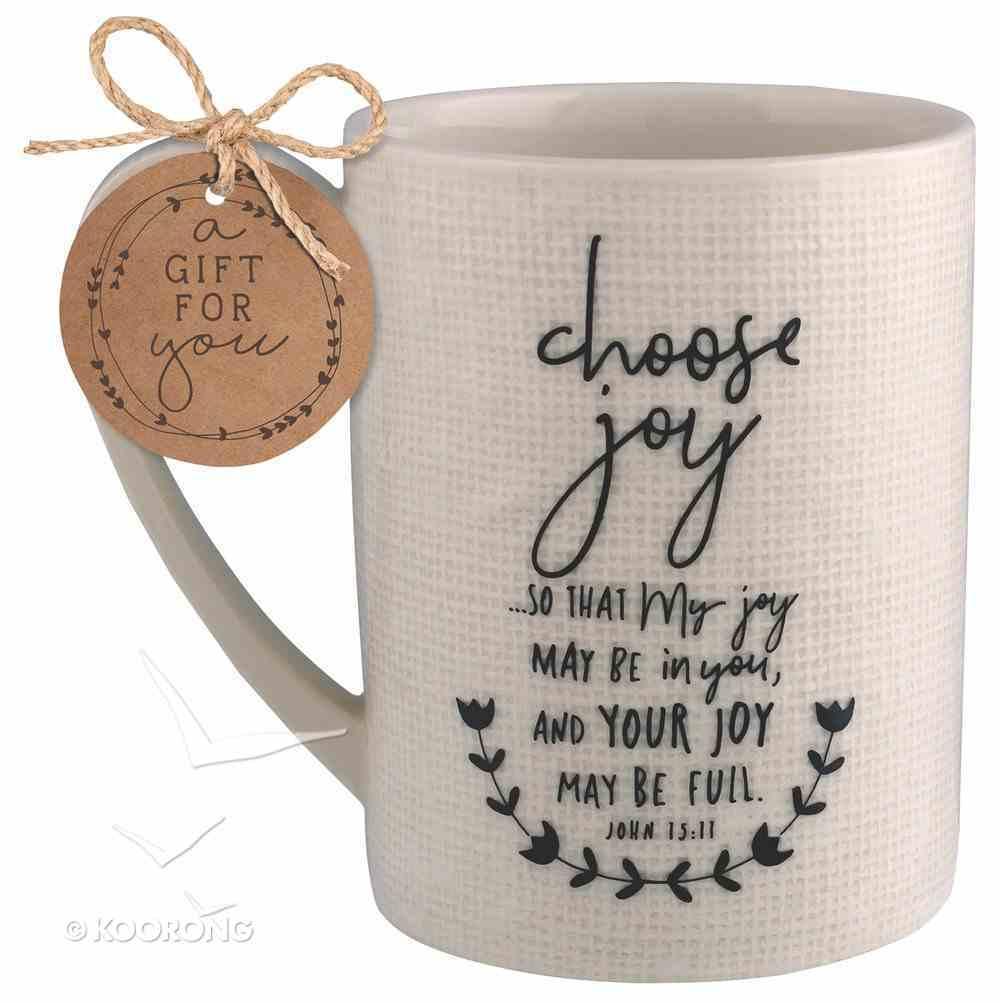 Ceramic Mug Hand Drawn Doodles: Choose Joy (John 15:11) Homeware