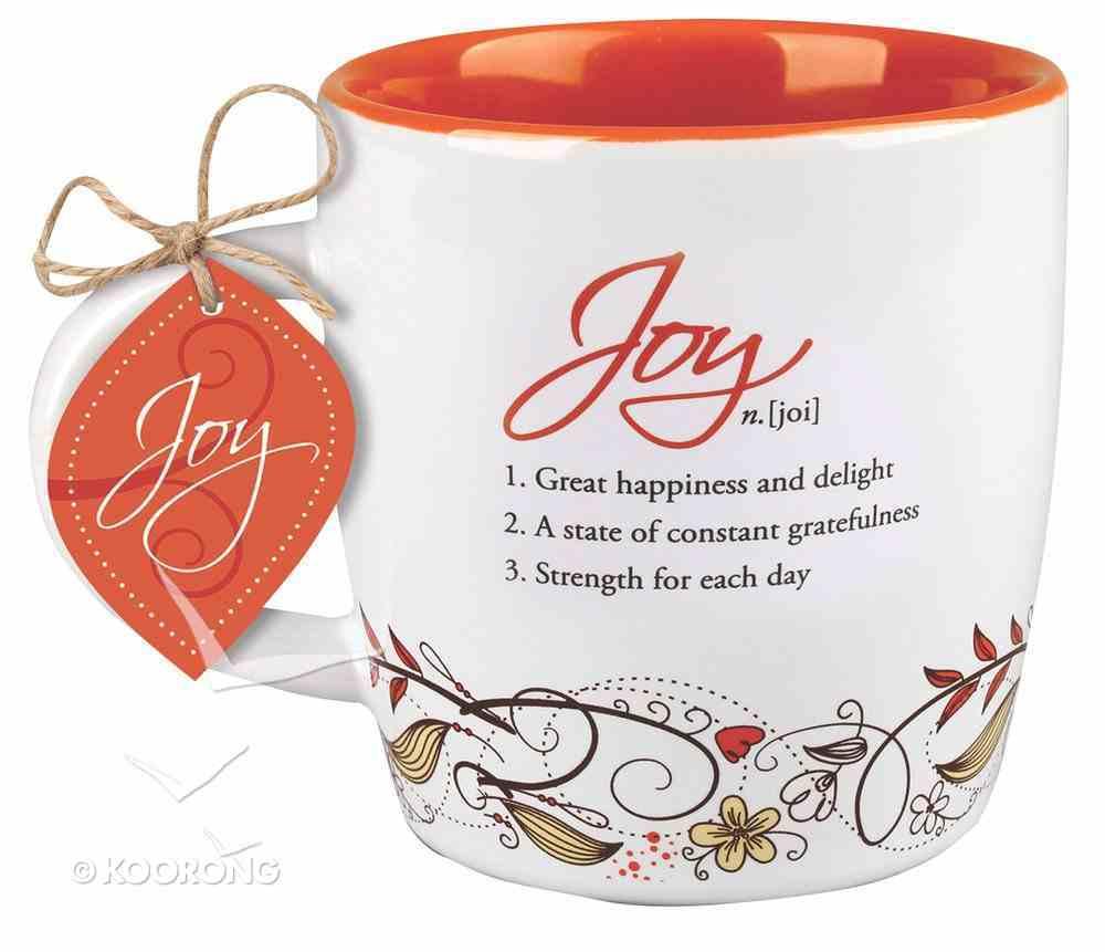 Ceramic Mug Creative Definition: Joy, Orange/White (Nehemiah 8:10) Homeware