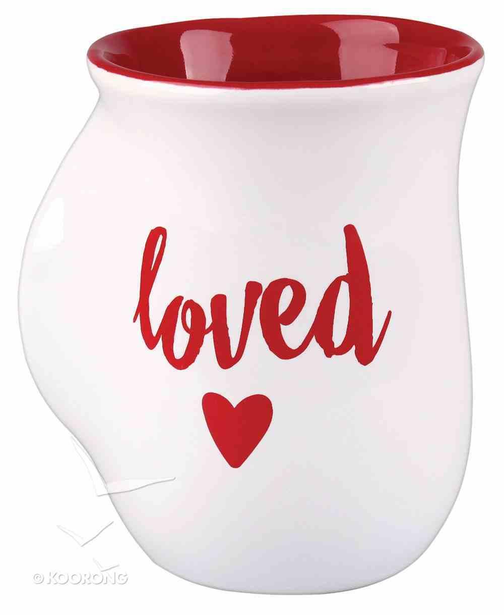 Ceramic Handwarmer Mug: Loved White (Psalm 23:6) Homeware