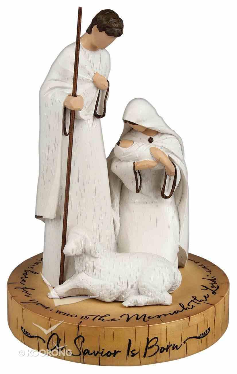 Christmas Resin Sculpture: Savior is Born (Luke 2:11) Homeware