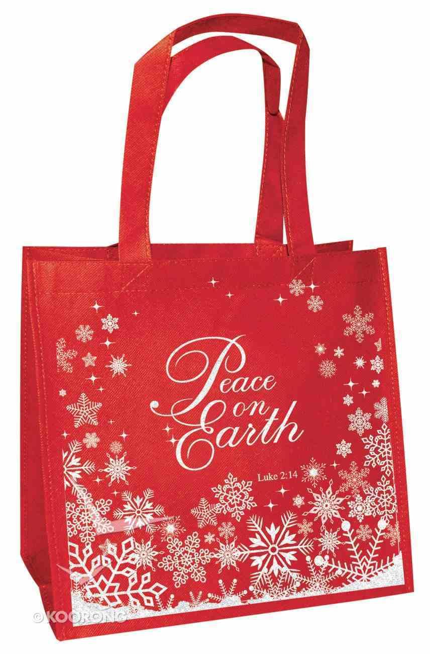 Christmas Eco Tote Bag Glitter: Peace on Earth Soft Goods