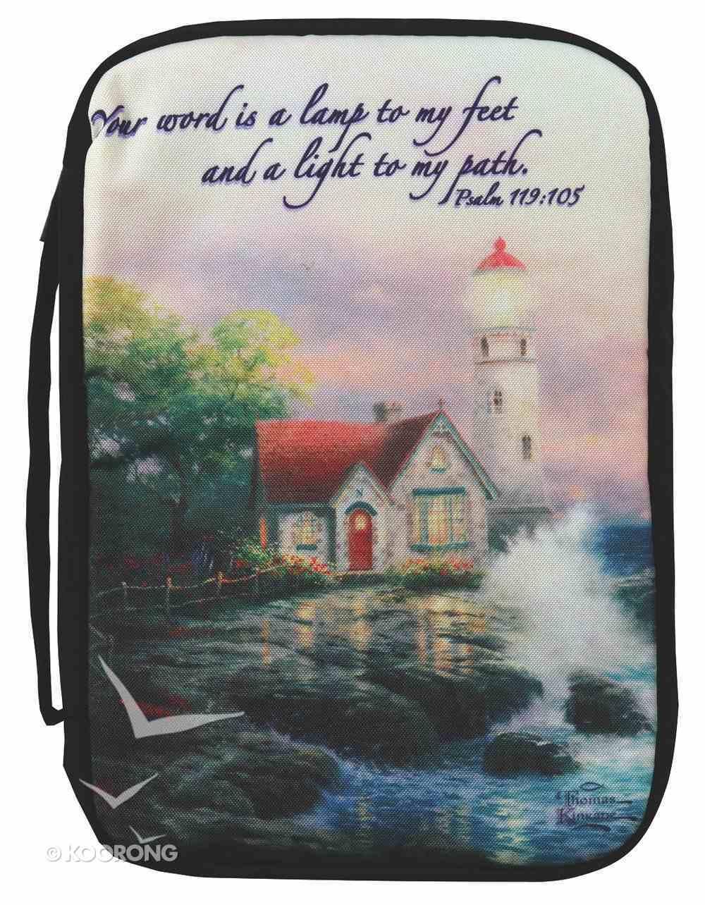 Bible Cover Thomas Kinkade Large Beacon of Hope Lighthouse Navy Bible Cover