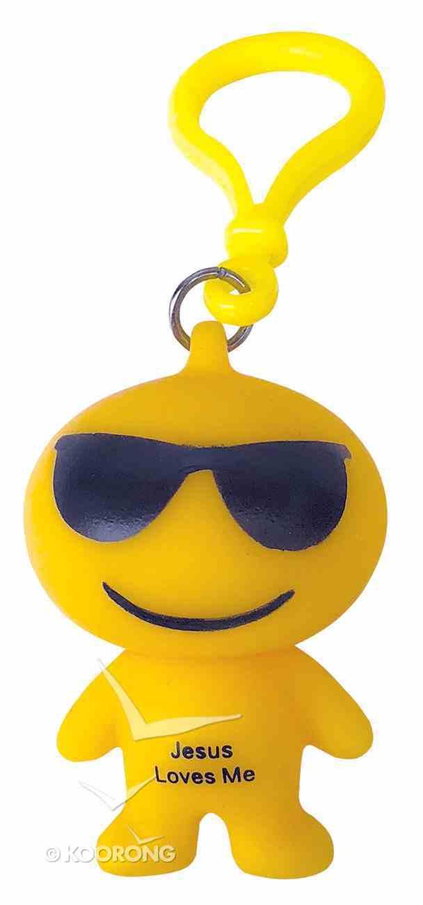 Emoji Keyring Sunglasses: Jesus Loves Me Novelty