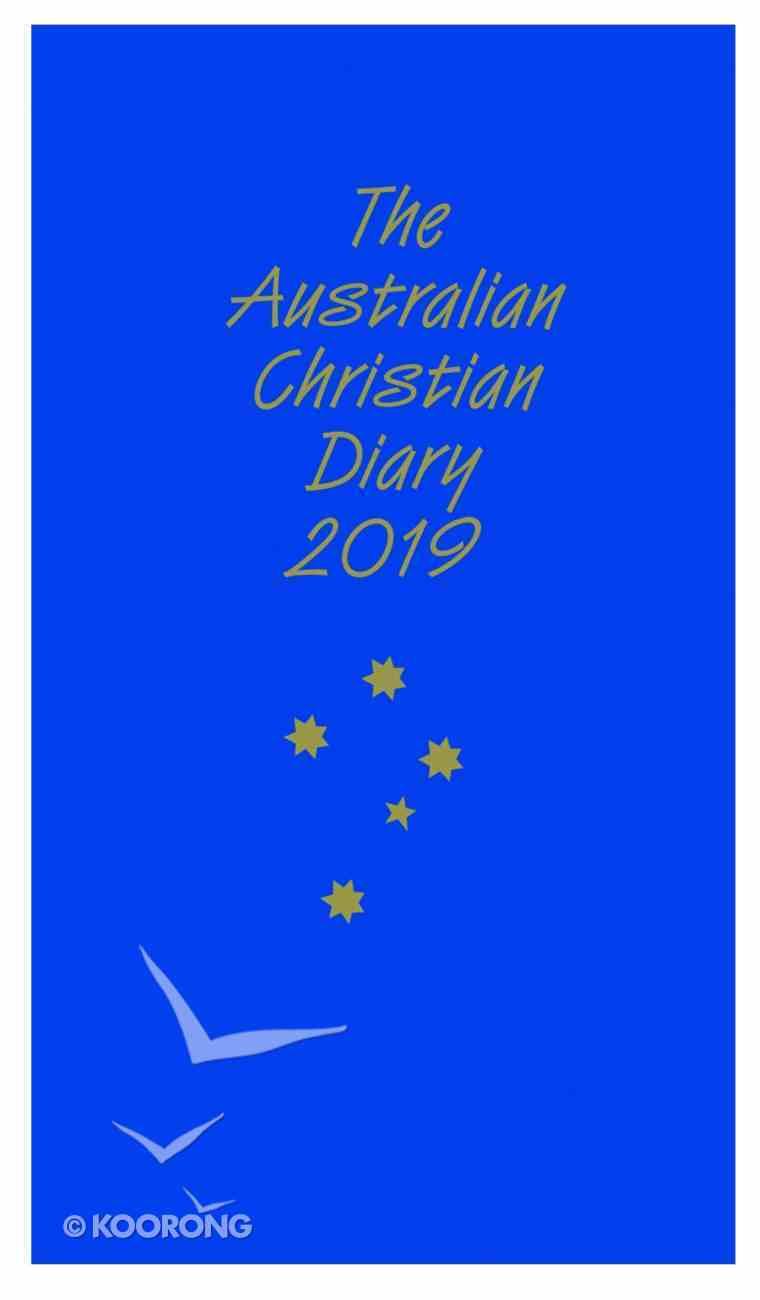 2019 Australian Christian Diary Blue Paperback