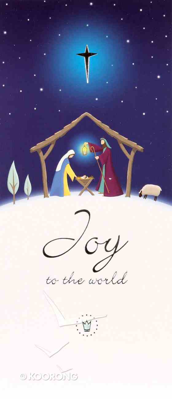 Christmas Boxed Cards Joy to the World, Nativity on Hillside Box