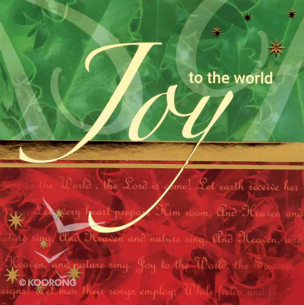 Christmas Boxed Cards Joy to the World Box