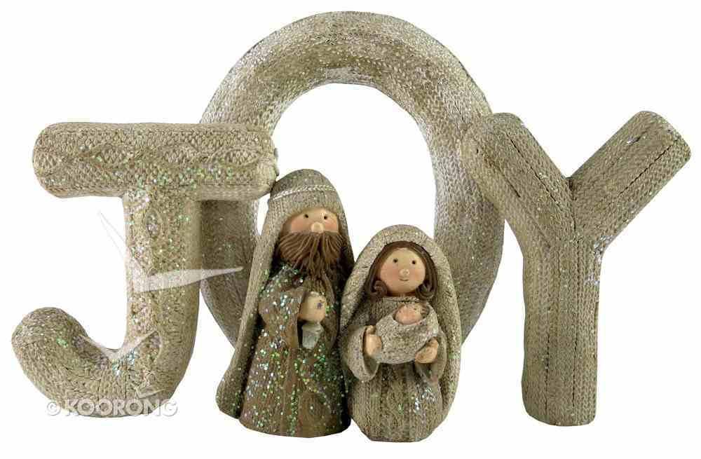 Resin Knitted Finish White/Beige Holy Family: Joy Homeware