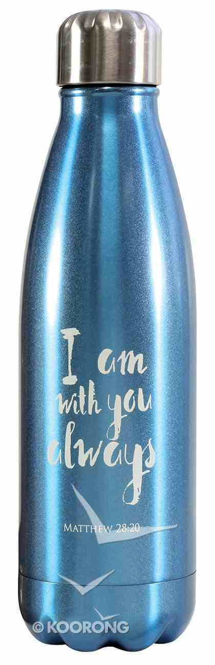 Water Bottle 500ml Stainless Steel: I Am With You Always, Spectrum Homeware