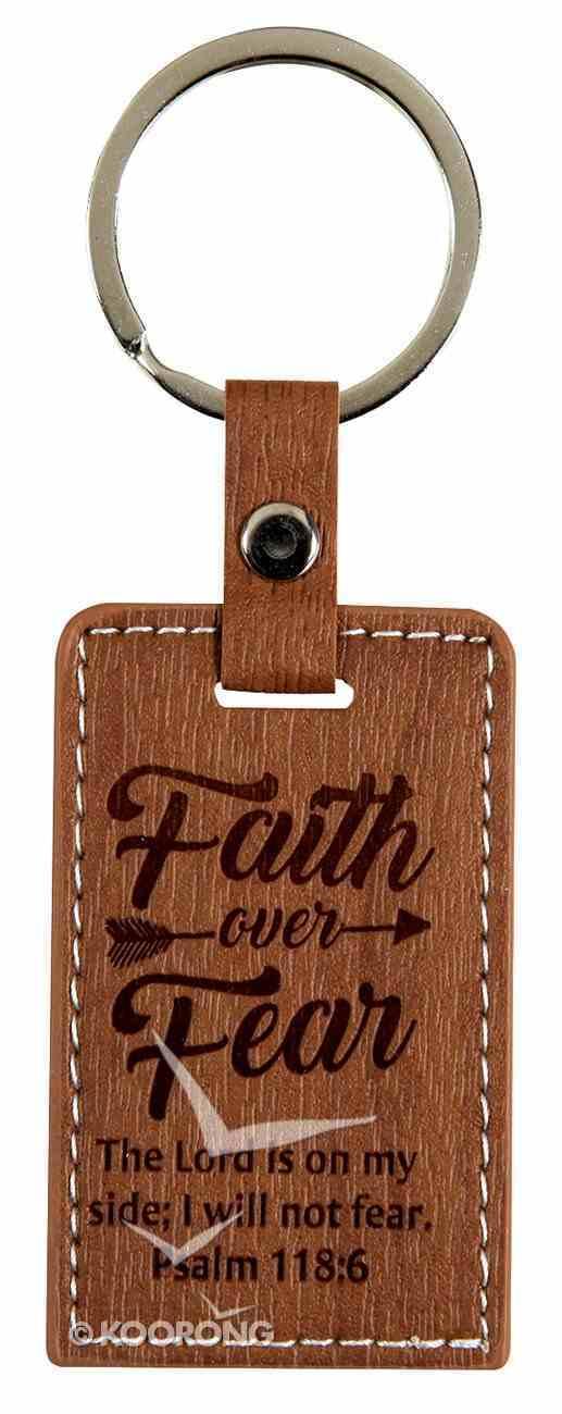Lux Keyring: Faith Over Fear, Psalm 118:6 Jewellery
