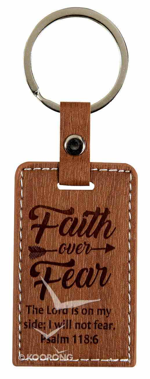Leather Lux Keyring: Faith Over Fear, Psalm 118:6 Jewellery