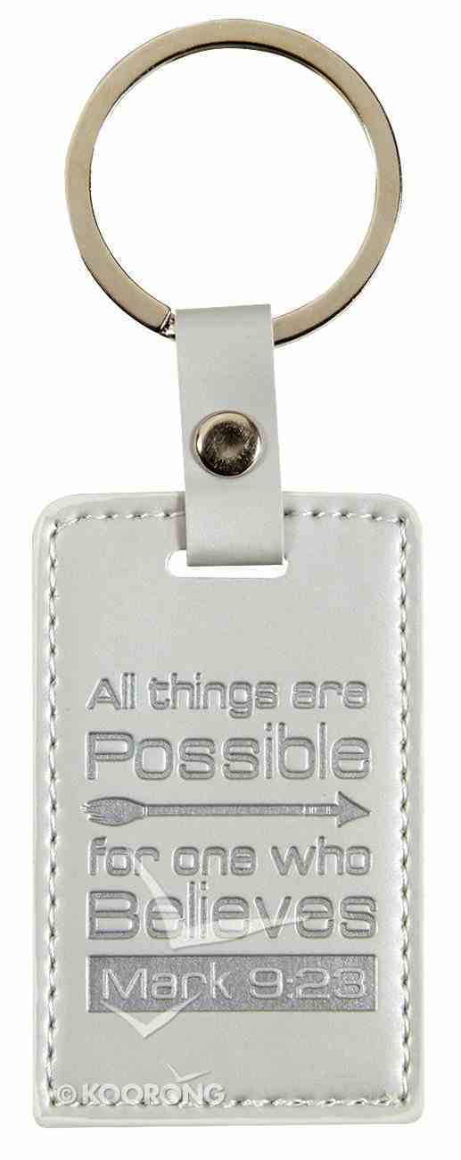 Lux Keyring: All Things Are Possible, Mark 9:23 Jewellery