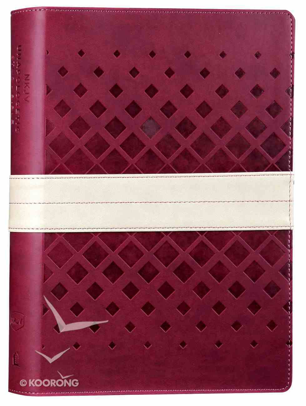 NKJV Unapologetic Study Bible Red/Tan (Red Letter Edition) Imitation Leather