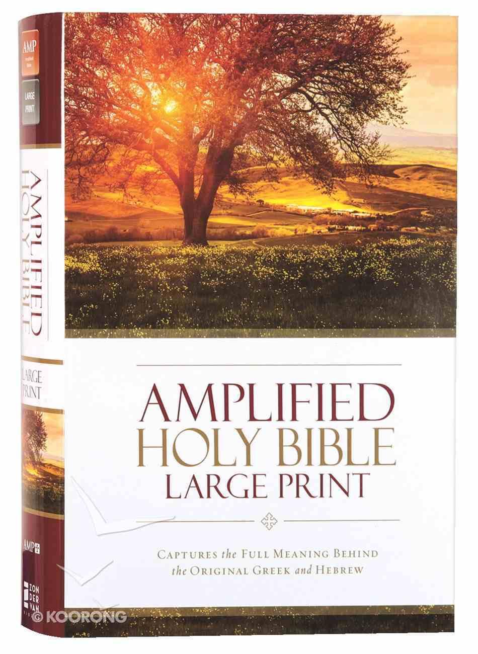 Amplified Holy Bible Large Print (Black Letter Edition) Hardback