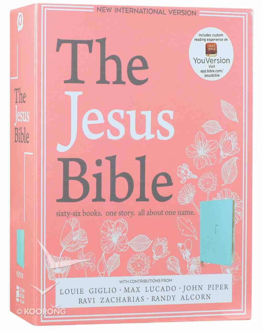 NIV the Jesus Bible Blue (Black Letter Edition) Premium Imitation Leather