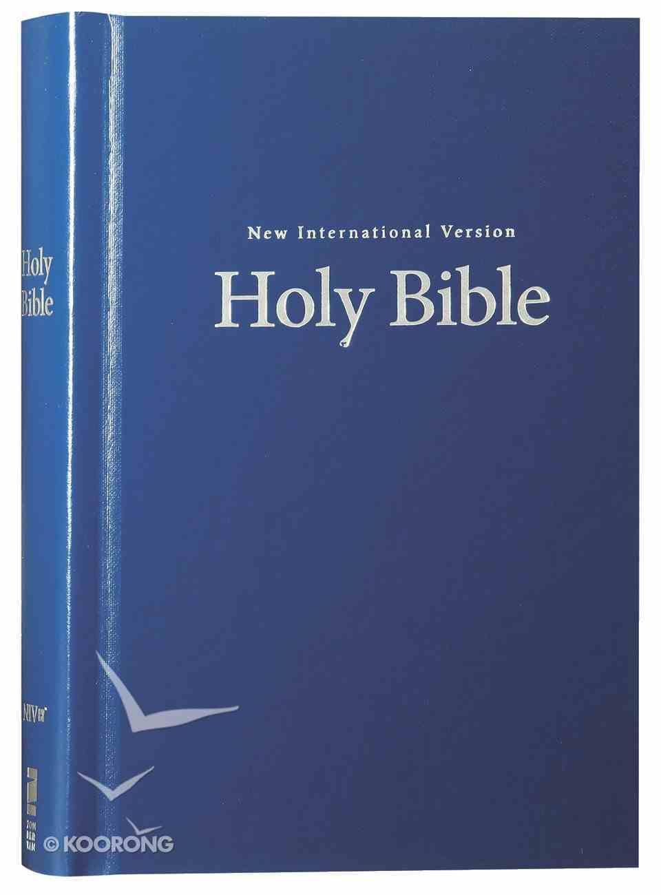 NIV Pew and Worship Bible Large Print Blue (Black Letter Edition) Hardback