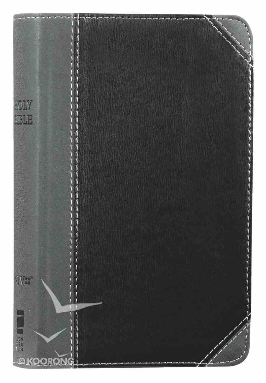 NIV Thinline Bible Compact Black/Gray (Red Letter Edition) Premium Imitation Leather