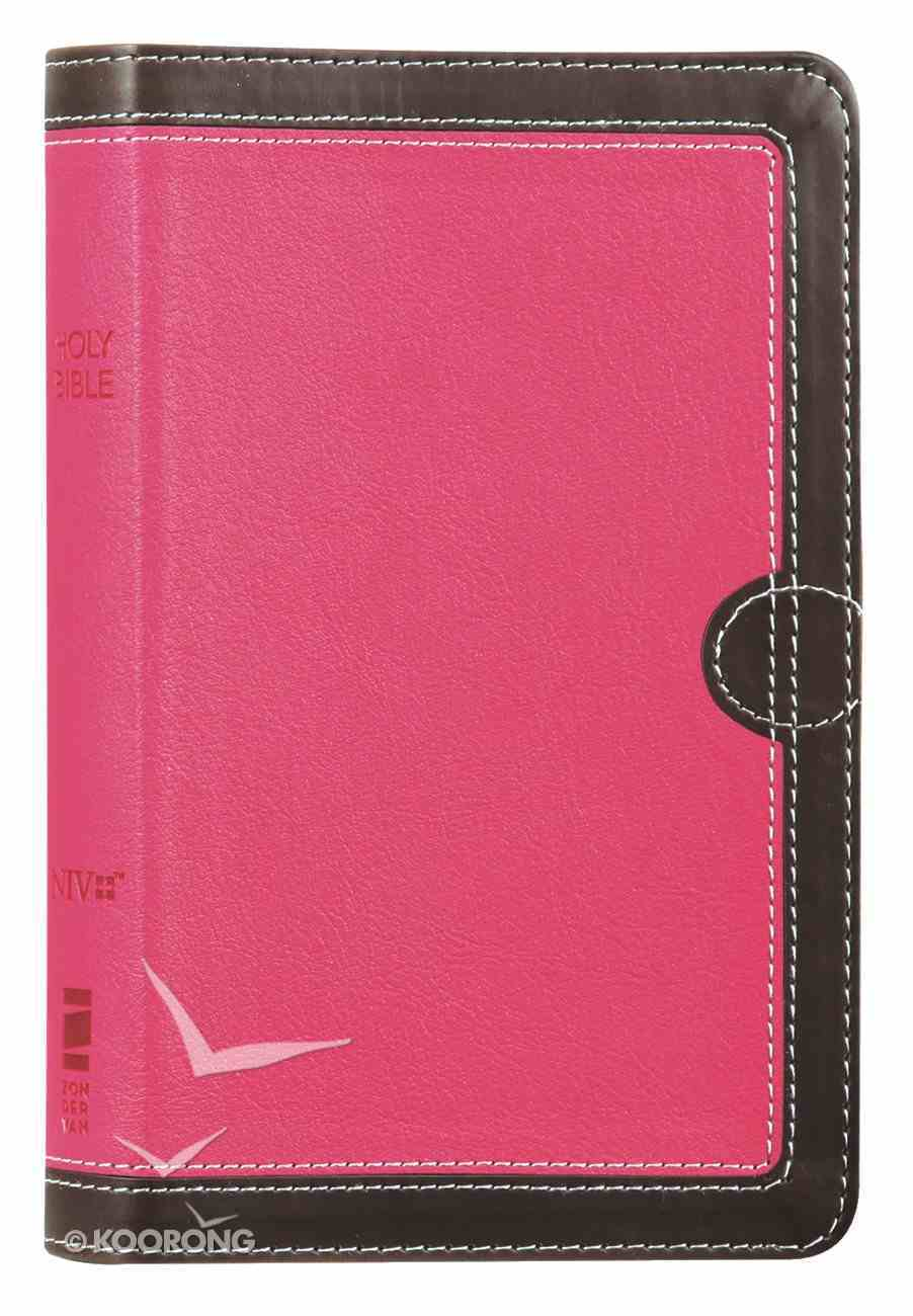 NIV Thinline Bible Compact Pink/Brown (Red Letter Edition) Premium Imitation Leather