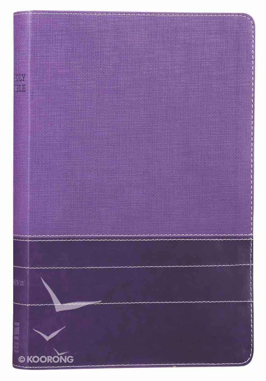 NIV Thinline Bible Large Print Purple (Red Letter Edition) Premium Imitation Leather