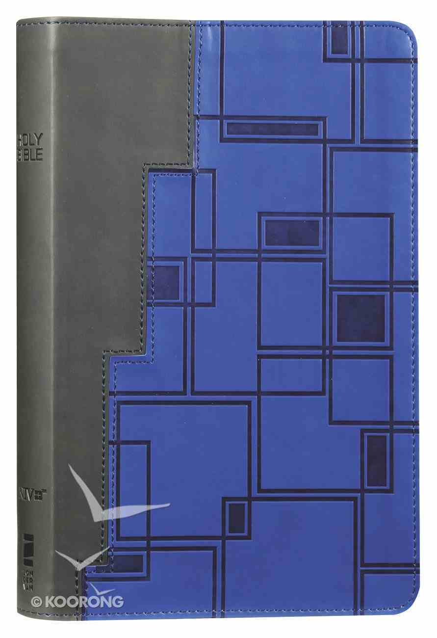 NIV Thinline Bible For Teens Gray/Navy (Red Letter Edition) Premium Imitation Leather