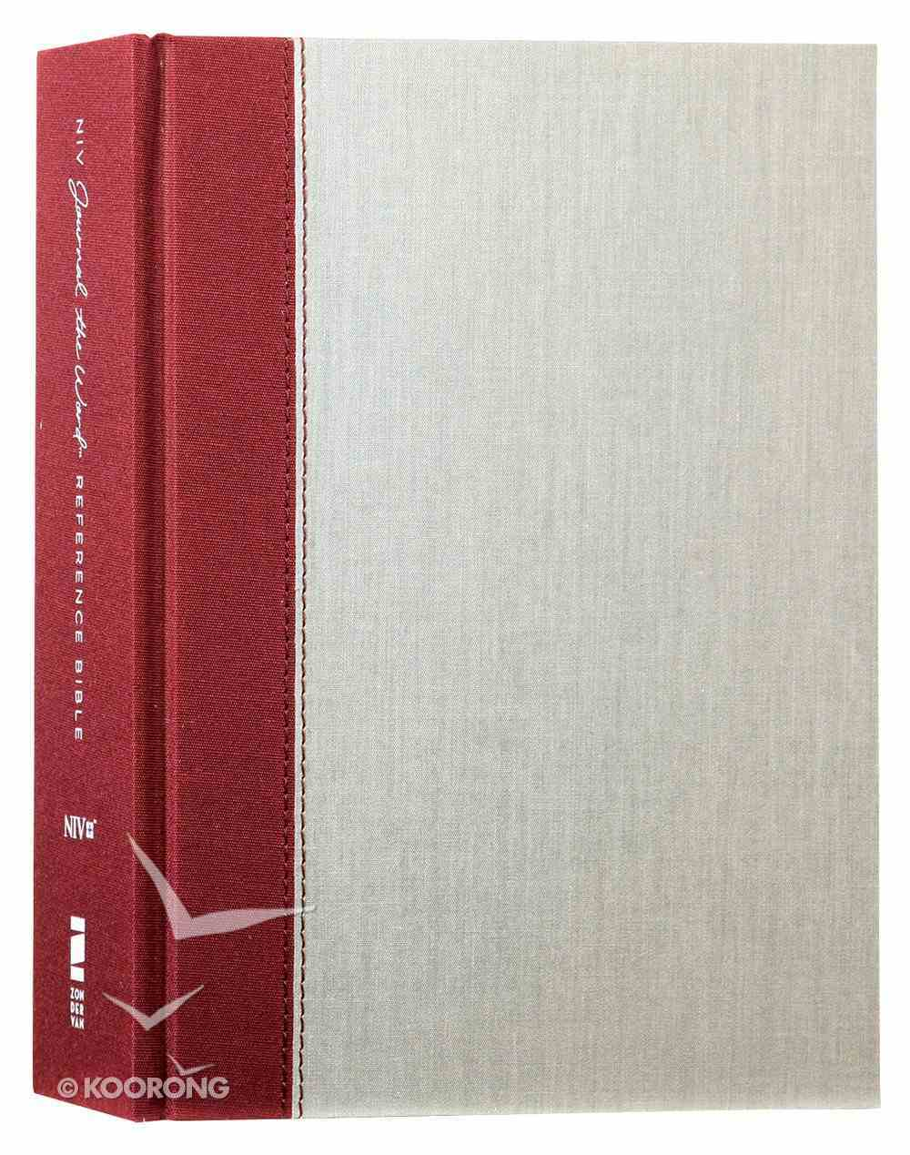 NIV Journal the Word Reference Bible Burgundy/Gray (Red Letter Edition) Hardback