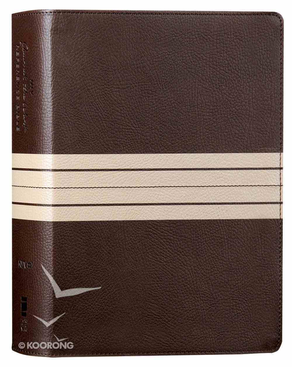 NIV Journal the Word Reference Bible Brown/Tan (Red Letter Edition) Premium Imitation Leather