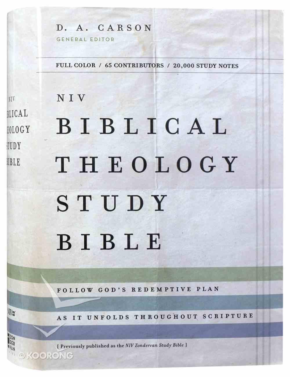 NIV Biblical Theology Study Bible (Black Letter Edition) Hardback