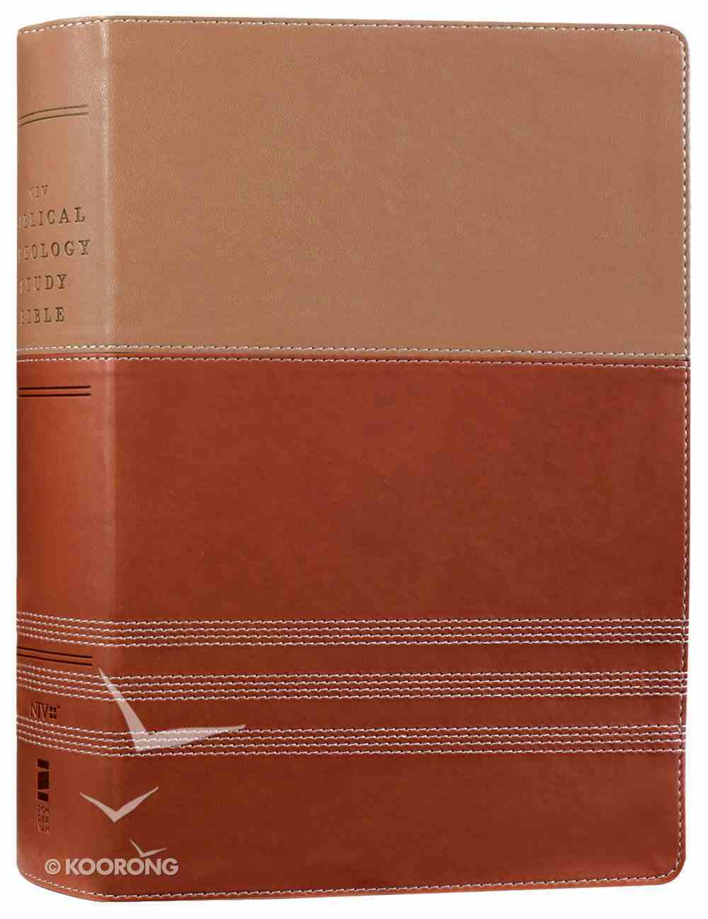 NIV Biblical Theology Study Bible Tan/Brown (Black Letter Edition) Premium Imitation Leather