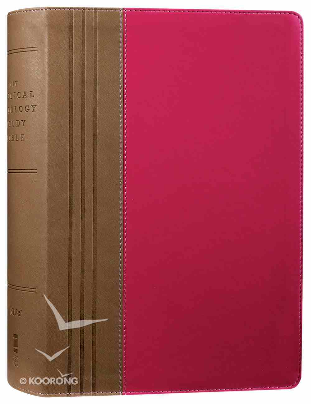 NIV Biblical Theology Study Bible Pink/Brown (Black Letter Edition) Premium Imitation Leather
