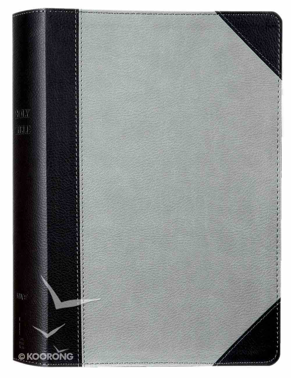 NIV Faithlife Illustrated Study Bible Gray/Black Premium Imitation Leather