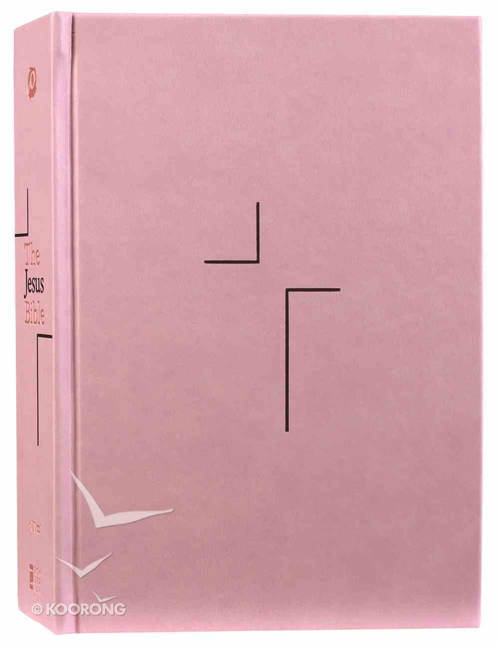 NIV the Jesus Bible Pink Comfort Print Edition (Black Letter Edition) Fabric Over Hardback
