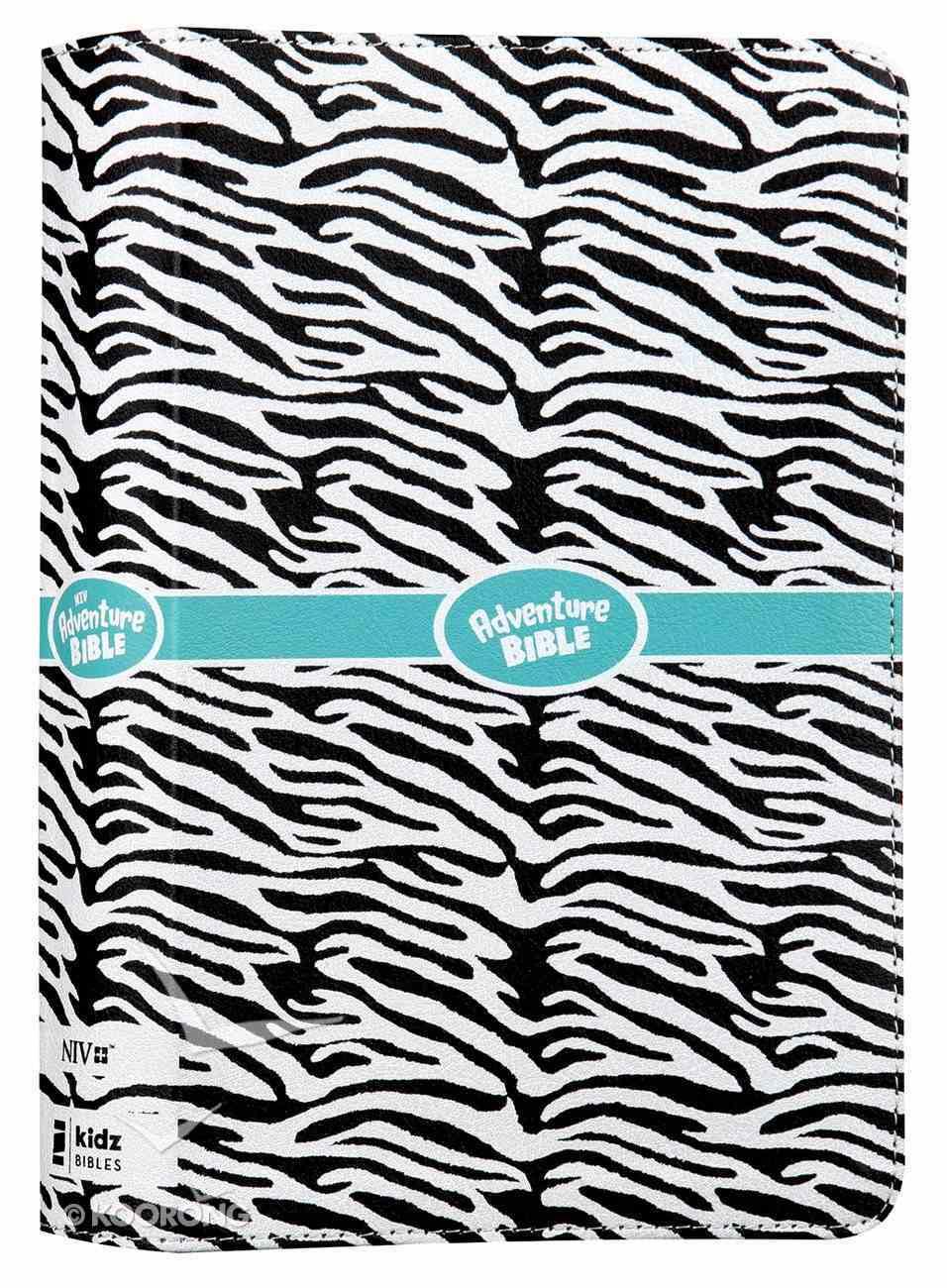 NIV Adventure Bible Zebra Print (Black Letter Edition) Premium Imitation Leather