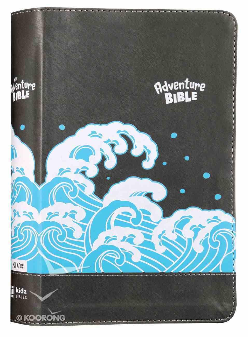 NIV Adventure Bible Gray (Black Letter Edition) Premium Imitation Leather