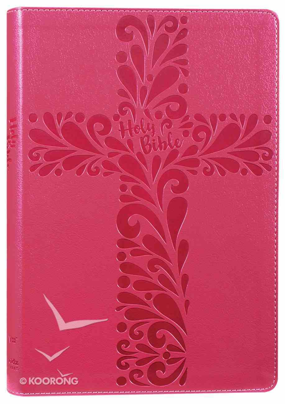 NIV Bible For Kids Large Print Pink (Red Letter Edition) Premium Imitation Leather