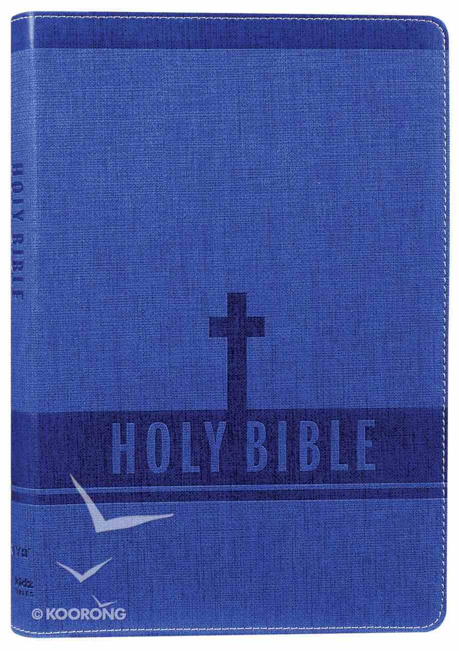 NIV Bible For Kids Large Print Blue (Red Letter Edition) Premium Imitation Leather