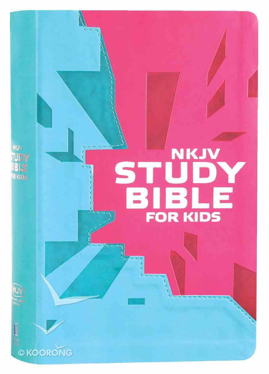 NKJV Study Bible For Kids Pink (Black Letter Edition) Premium Imitation Leather