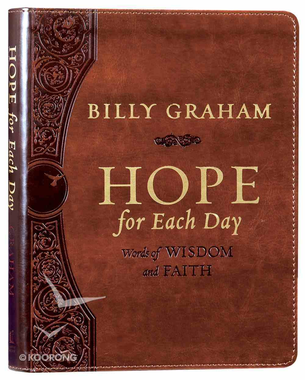 Hope For Each Day: Words of Wisdom and Faith Premium Imitation Leather
