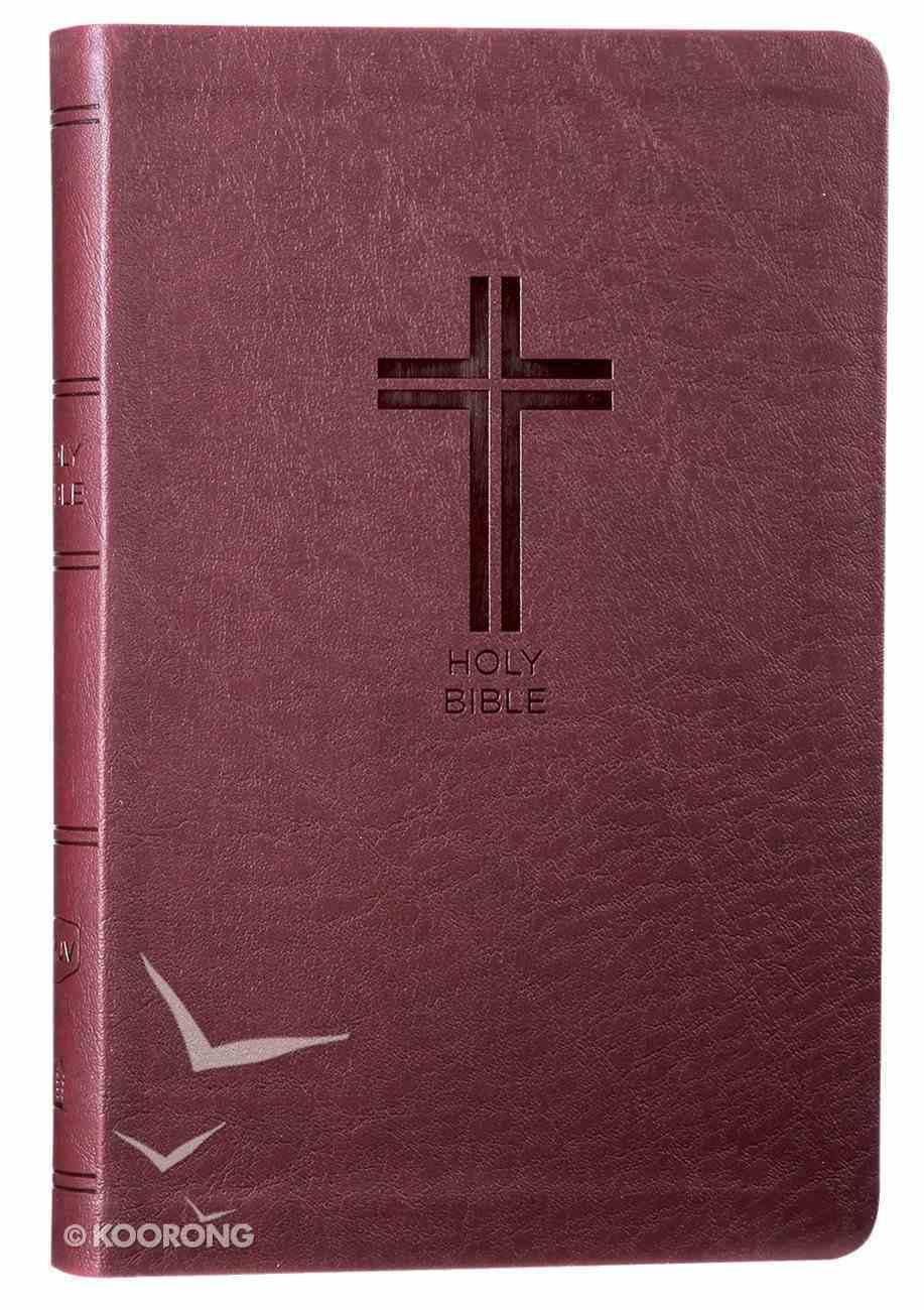NKJV Value Thinline Bible Burgundy (Red Letter Edition) Premium Imitation Leather