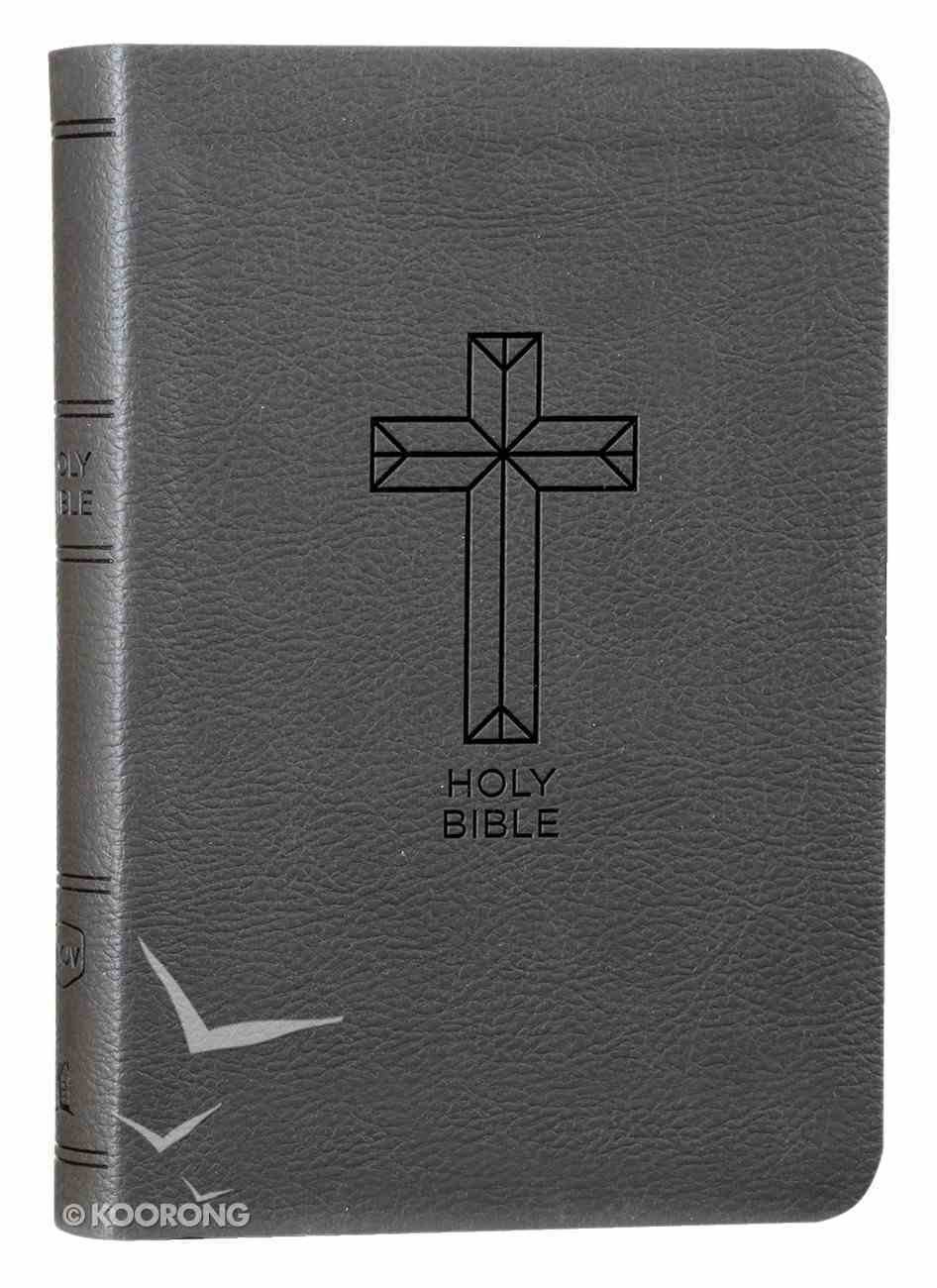 NKJV Value Thinline Bible Compact Charcoal (Red Letter Edition) Premium Imitation Leather